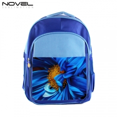 Blank Sublimation Kids School Backpack- Blue