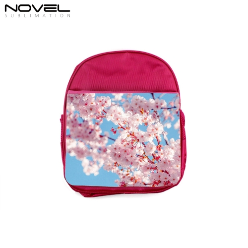 Sublimation Kid Backpack Polyester School Bag-Rose