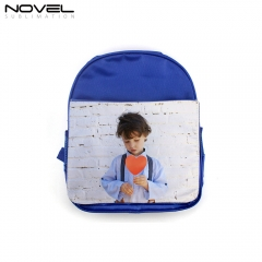 Polyester Sublimation School Bag Kid Backpack-Blue