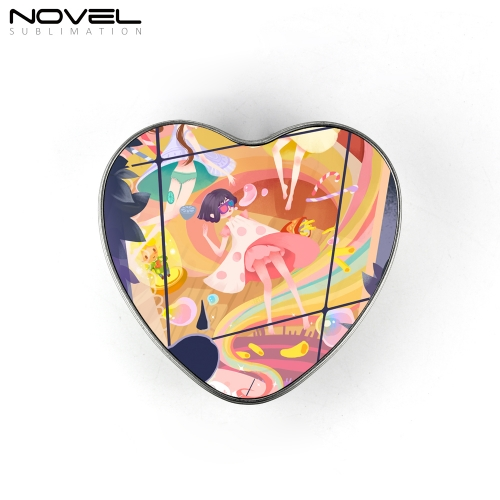 Metal Tin Sublimation Blank Candy Box Case-Heart