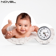Sublimation Blank MDF Photo Frame Table Clock