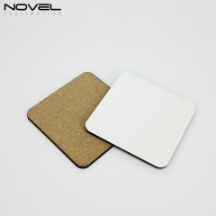 4mm MDF Coaster Sublimation Coaster With Cork Back- Square