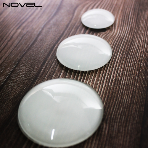 New Arrival Sublimation Blank Glass Crystal Fridge Magnets-Round