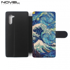 New!!! DIY Sublimation PU Flip Phone Wallet Case For Galaxy Note 10