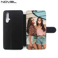 DIY Blank  Sublimation PU Flip Phone Wallet Case For Honor 20