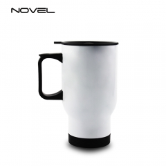 Stainless Steel Travel Mug Sublimation 14oz Car Mug-White
