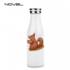 500ml Stainless Steel Milk Thermal Mug Sublimation Travel Water Bottle