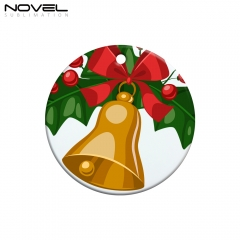 Christmas Tree Pendant Ceramic Ornament Big Circle