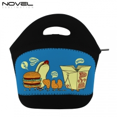 Custom Black Sublimation Blank Cooler Lunch Bag