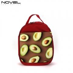 Sublimation Custom Red Kid Lunch Bag