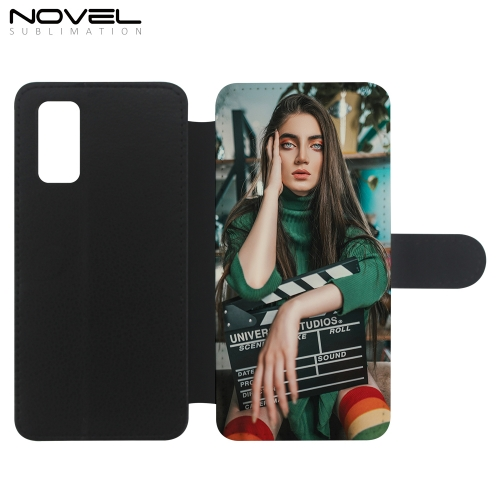 Custom Sublimation PU Leather Flip Phone Cover For Galaxy S20