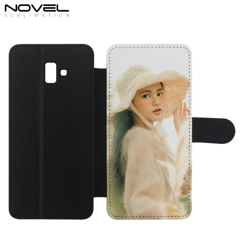 Custom PU Flip Phone Shell For Galaxy J6 Plus Sublimation Phone Bag