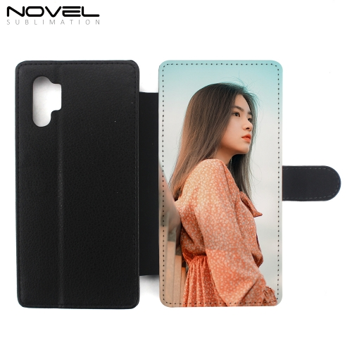 DIY Custom PU Flip Phone Wallet Case For Galaxy Note 10 Pro/ Plus