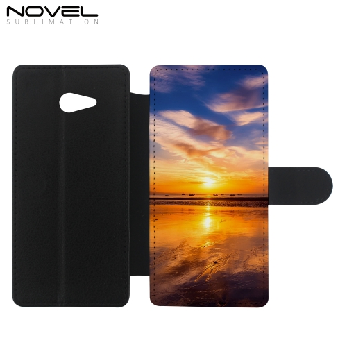 Phone Wallet For Sony M2 Sublimation Blank PU Flip Case