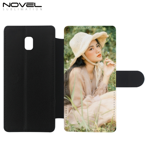 Custom Leather PU Flip Phone Wallet For Galaxy J330/ J3 2017 Europe Version