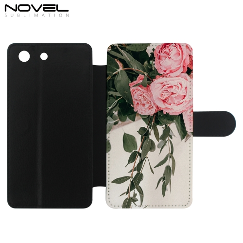 DIY Sublimation Blank PU Flip Phone Cover For Sony M5