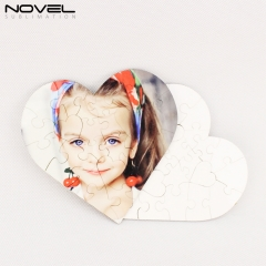 NSPZ-001 Sublimation Heart MDF Puzzle 23p
