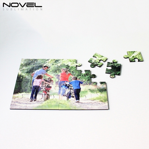 NSPZ-005 Custom Rectangle MDF Jigsaw Puzzle 24p