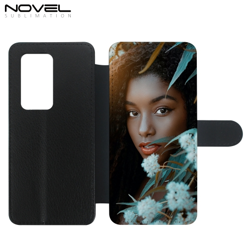 PU Flip Sublimation Leather Phone Wallet For Huawei P40 Series
