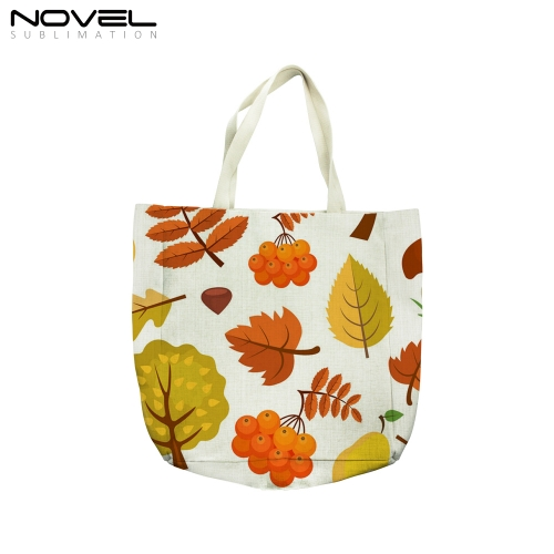 Big Size Linen Tote Bag Personalized Shopping Bag