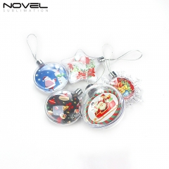Popular Sublimation Plastic Christmas Ornaments DIY Decoration
