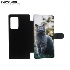 PU Leather Wallet Flip Phone Protective Case Cover for Galaxy Note 20 Ultra