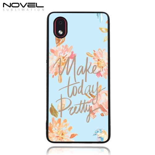 Blank Sublimation Rubber 2D TPU Cell Phone Cover  for Galaxy A01 Core