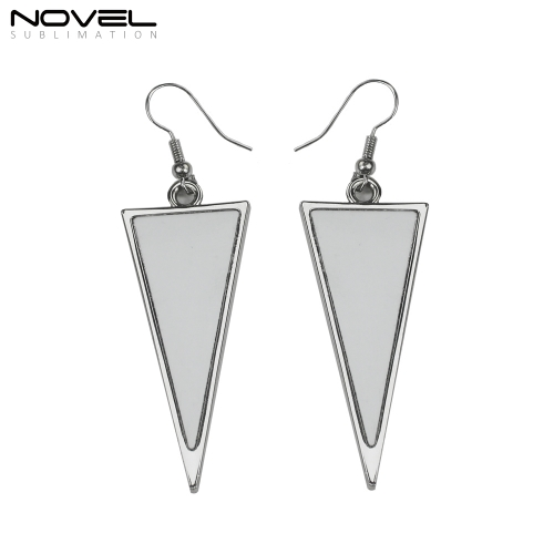 Double-sided Printable Sublimation Blank Earrings- Long Triangle