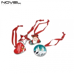 Zinc Alloy Pendants Christmas Ornaments-4 Shapes Available