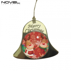 Custom Sublimation Christmas Pendant Double-sided Printing Bell Ornament