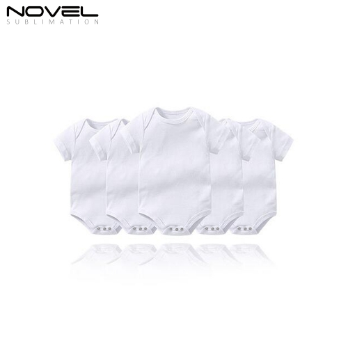 Custom Sublimation Blank Short Sleeve Baby Bodysuit