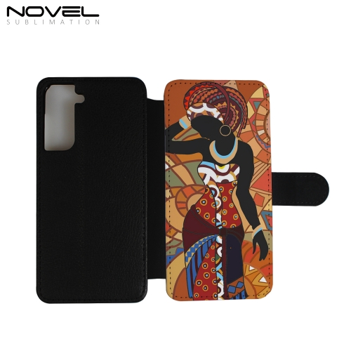 PU Flip Phone Case Sublimation Phone Wallet For Galaxy S21,S21 Plus,S21 Ultra