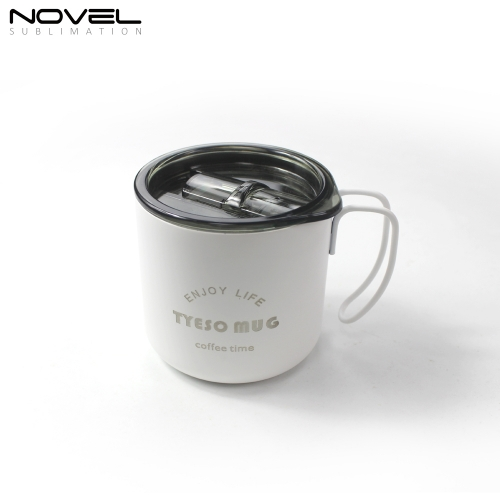 450ml Stainless Steel Cup Sublimation White Coating Mug