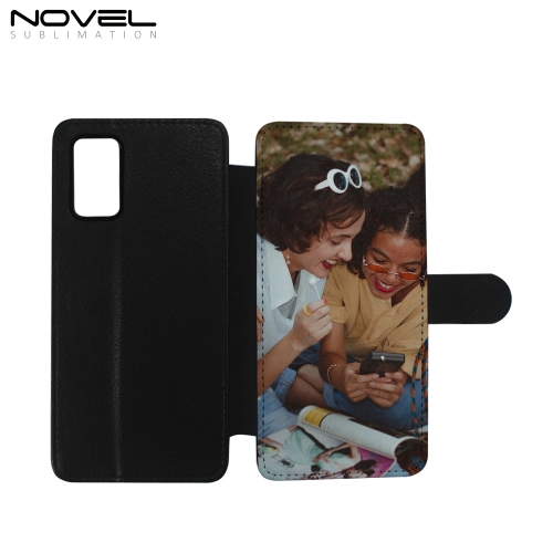 Blank Printable PU Flip Phone Case For Galaxy A02S PU Leather Case Phone Holder