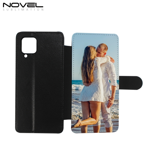 PU Flip Phone Case Sublimation Canvas Phone Wallet for Galaxy A12,A32,A42,A52,A72 for Sam Galaxy  A Series
